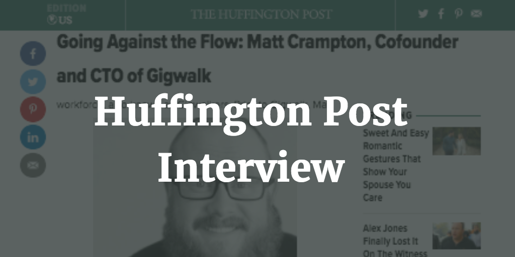 Huffington Post Interview with Matt Crampton